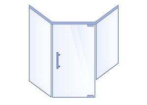 Neo-Angle Hinged Door with Buttress