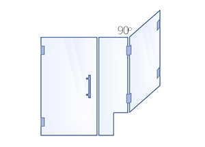 Hinged Door, Inline Panel, 90° Return Panel with Buttress