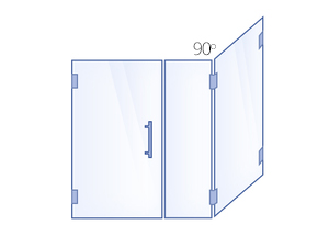Hinged Door, Inline Panel, 90° Return Panel