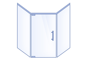 Neo-Angle Hinged Door